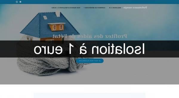 Isolation Comble 1 Euro